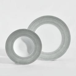 Mintaszett - tányér készlet Assalto szürke, 5 részes
