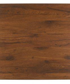 Werzalit-Topalit asztallap dohány színű, négyzetes