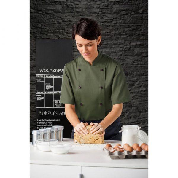Női szakácskabát Pauline rövid ujjú