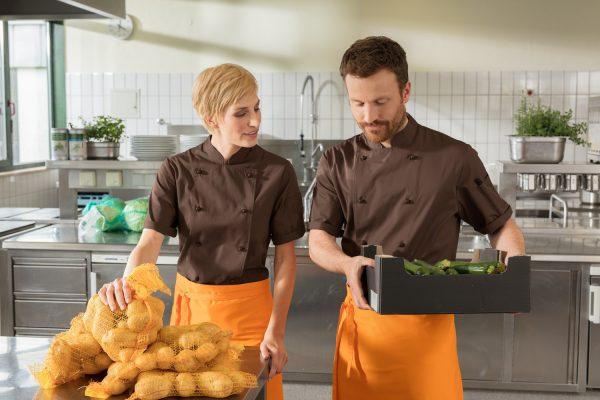 Férfi szakácskabát Milan rövid ujjú