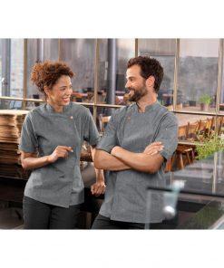 Női szakácskabát Scott rövid ujjú