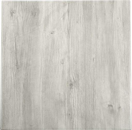 Werzalit-Topalit asztallap Vintage fehér, négyzetes