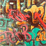 Werzalit asztallap Graffiti