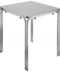 Alumínium asztal Limona,négyzetes