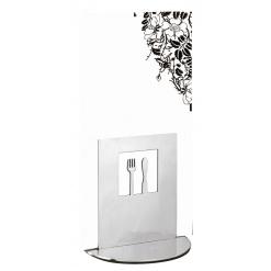 Asztali laptartó evőeszköz kivágással