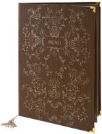 Étlap könyvkötő vászonból Eluard