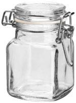 Csatos üveg Boco szögletes