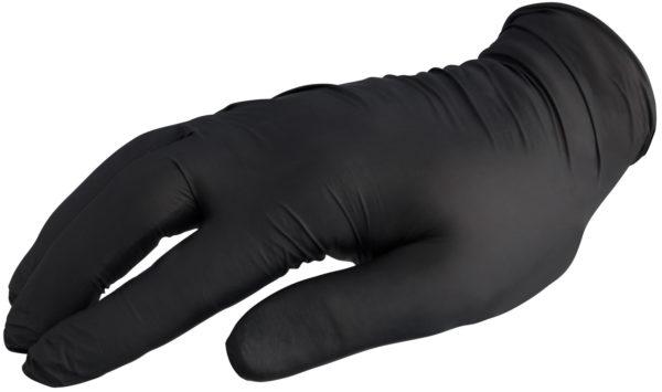 Egyszerhasználatos kesztyű Nitril fekete