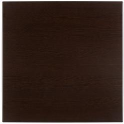 Werzalit-Topalit asztallap sötétbarna, négyzetes