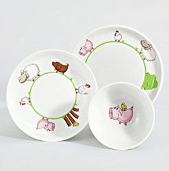 Gyermek porcelán étkészlet KLECKERBANDE