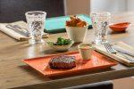 Szögletes tányér Sidina 27x21cm