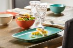 Szögletes tányér Sidina 31x18cm
