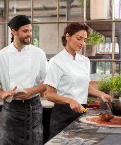 Női szakácskabát Ailin rövid ujjú