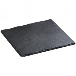 Négyzet alakú pala kő alátét Patara fogantyú nélkül