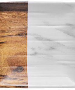 Négyzet alakú tálca Tupelo