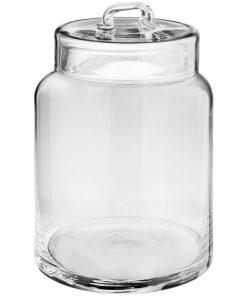 Üveg tároló tetővel Lissy