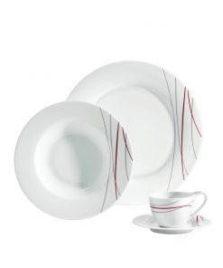 Lapos tányér Pallais díszített
