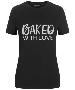 "Női póló ""Baked with love"""
