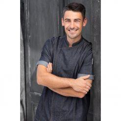 Férfi szakácskabát Levi rövid ujjú