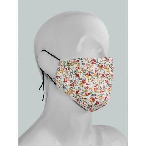 2-rétegű textil szájmaszk virágmintás